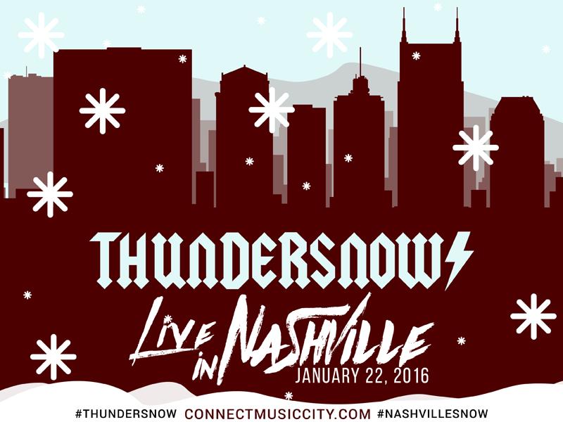 Thundersnow! Live in Nashville illustration tennessee snowing snow winterstorm nashville thundersnow