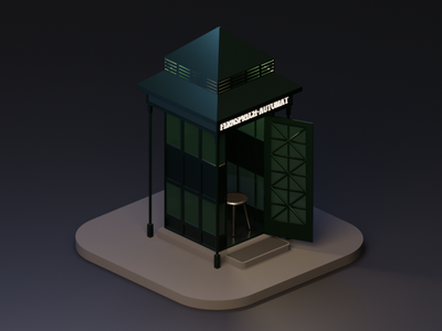 Fernsprech-Automat germany german telephone box phone blender 3d