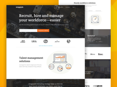 Talent management solutions landing page