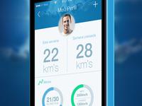 Swim tracker app