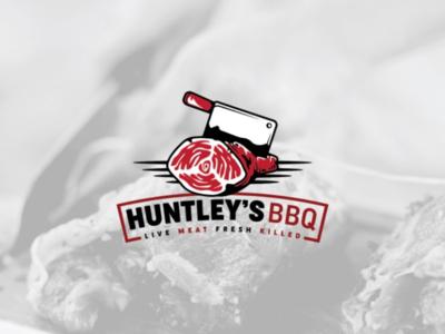 HUNTLEY'S BBQ Logo design