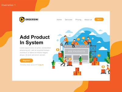 UI illustration for ordersini.com