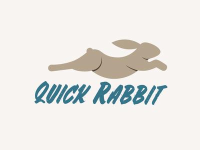Quick Rabbit Logo Design motion speed animal bunny rabbit mark minimal illustration gridded branding identity logo