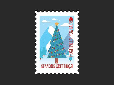 Christmas Postage Stamp #1 illustration art illustrator graphic  design design vector art vector christmas postage stamp postage