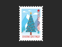Christmas Postage Stamp #1