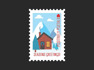 Christmas Postage Stamp 2 graphic design illustration art director design stamps christmas illustrator illustration vector art vector postage stamp postage
