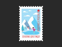 Christmas Postage Stamp #3