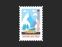 Christmas Postage Stamp #4