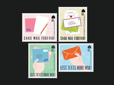 Postage Stamp Design illustration vector art vector letters stamps postal service postal mail snail mail postage stamp postage