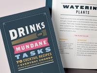 Drinks for Mundane Tasks Book Design