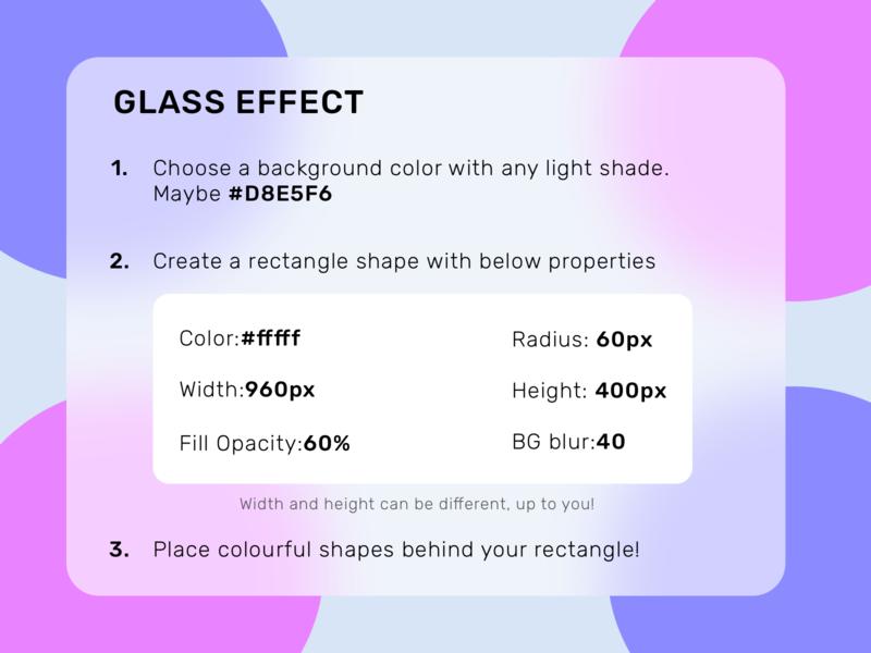 Glass effect tutorial blur sketch glass effect