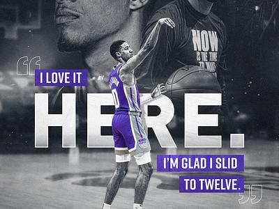 Haliburton Quote Graphic purple nba tyrese haliburton basketball kings sacramento