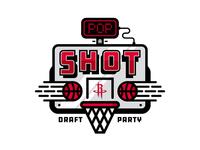 Pop-a-Shot Draft Party Logo