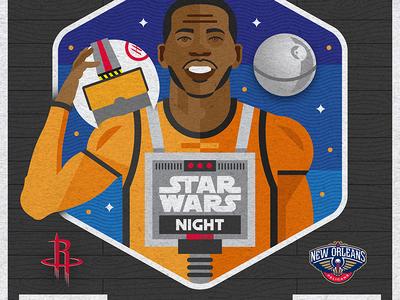 Houston Rockets Star Wars Night