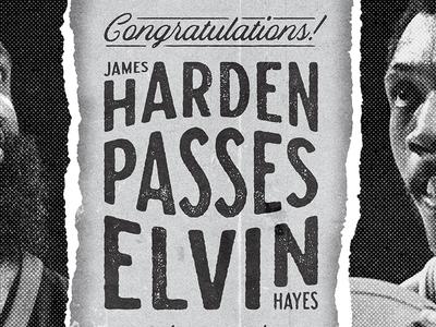 Harden Passes Hayes