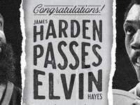 Harden Passes Hayes