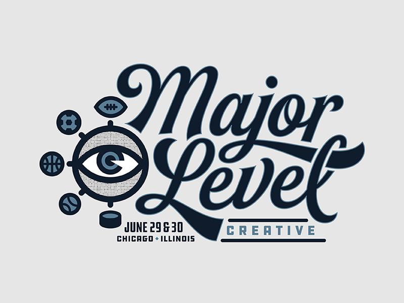 Major Level Creative - Rejected Logo hockey baseball basketball soccer football design sports eye chicago creative level major
