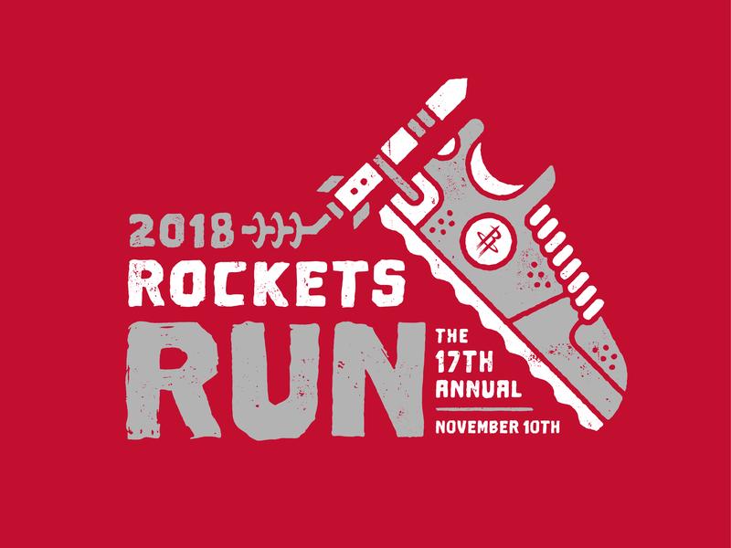 2018 Rockets Run Logo logo run sneaker shoe red basketball rockets houston