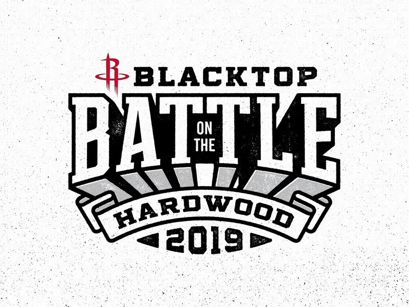 Blacktop Battle 2019 typography texture distressed white black rockets houston basketball battle blacktop