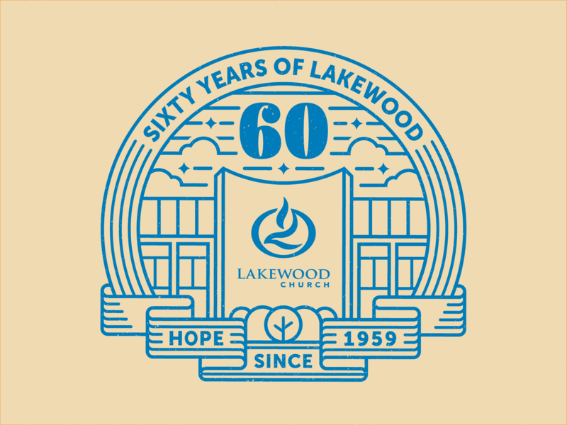 Lakewood 60th Logo Concept line art texas houston logo church lakewood