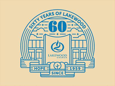 Lakewood 60th Logo Concept line art texas houston logo church lakewood