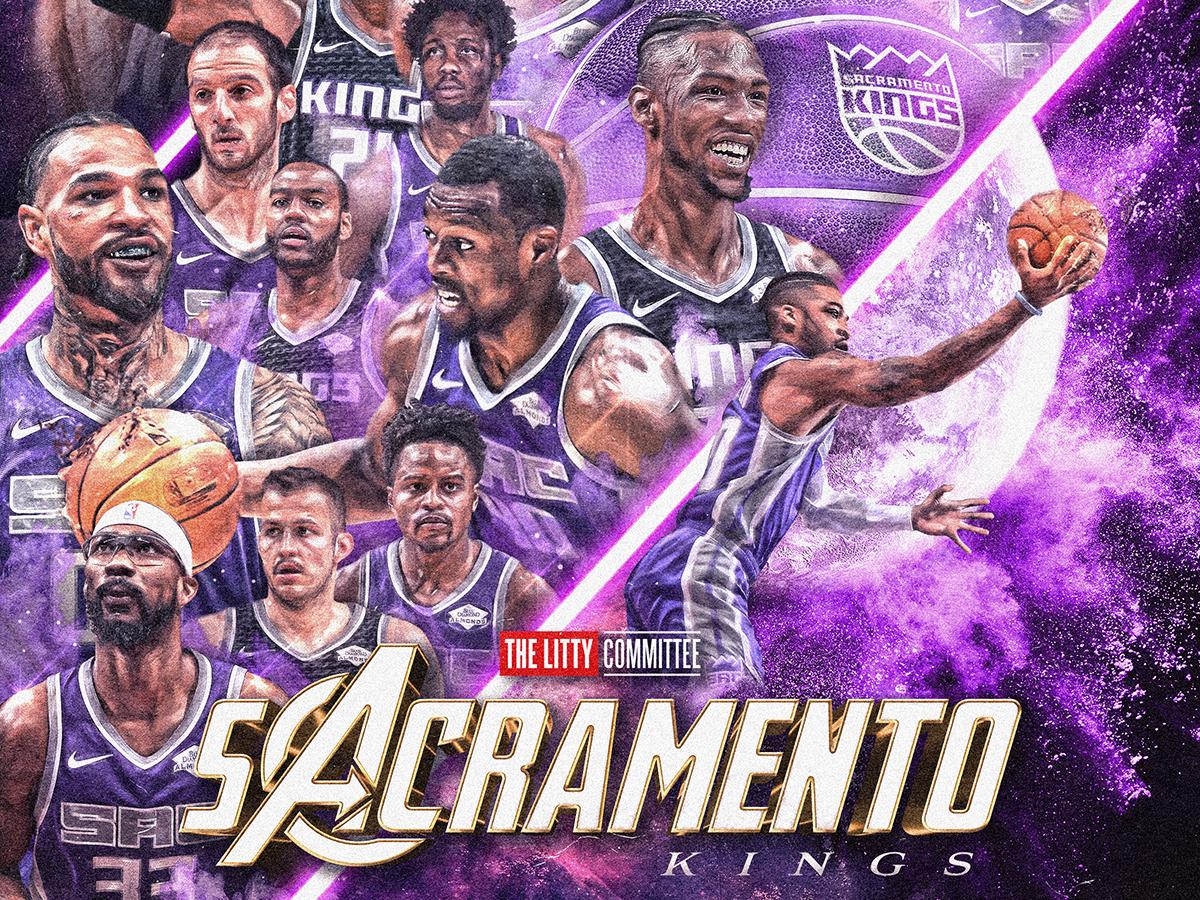 Avengers Poster for Kings Social movie basketball purple tribute kings sacramento end game avengers