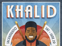 Khalid dribbble