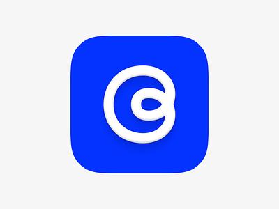 reflow - app icon ios cloud sky flat blob blue flow icon app
