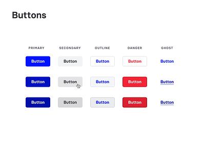 UI Buttons button design component html css html blue components buttons ui