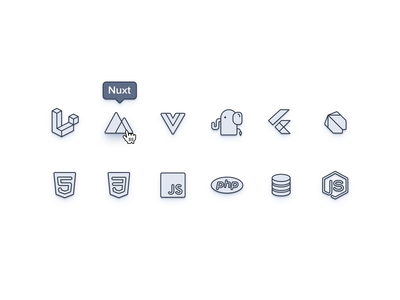 Stack Icons web vector custom app flat clean ui ui icons iconset icons