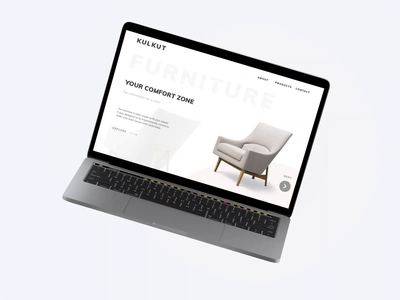 Furniture Company Website animated sofa couch flat design after effects animation website chair furniture