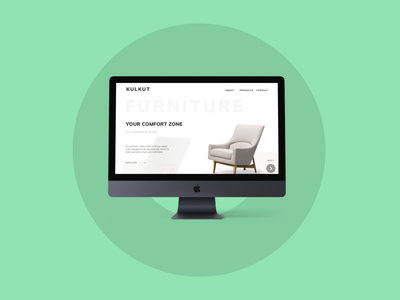 KulKut Furniture ux design furniture store chair website sofa website furniture website landingpage landing page furniture landing furniture