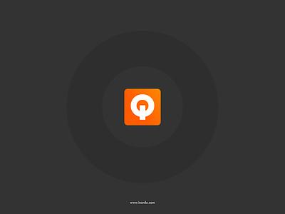 INORDO flat design typography flat design logo design circle logo q logo inordo binary logo power logo io logo logo