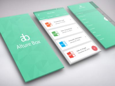 Alture Box - File Sharing App material google material file sharing sharing drop uiux android app android app ux ui design