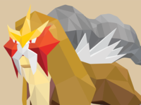 Low Poly Entei