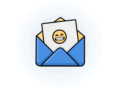 You've Got Mail open happy icon illustration mail envelope