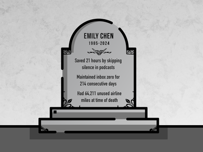 Death of the Quantified Self gamification quantified grave death tombstone