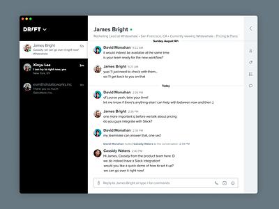 Introducing the Drift ⚡desktop app desktop app messaging app chat app conversations inbox desktop messaging chat