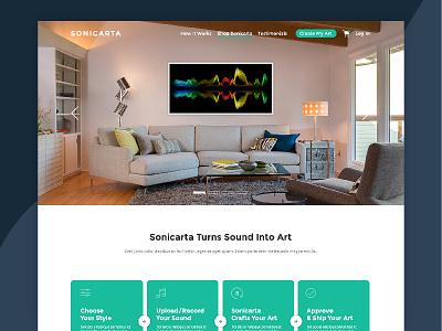 Sonicarta web ui ux design
