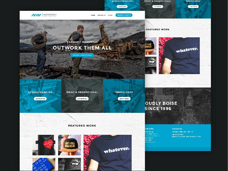 MadeWright Brand Solutions web ux ui design