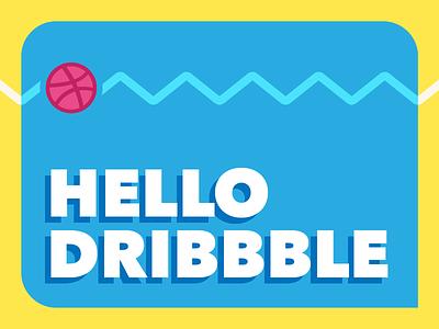 Hello Dribbble! bright color illustrator vector illustration debut