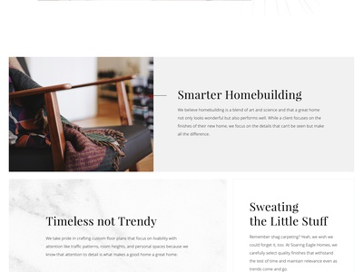 Soaring Eagle Homes clean modern portland agency blue blazes typogaphy website web design ux ui design web
