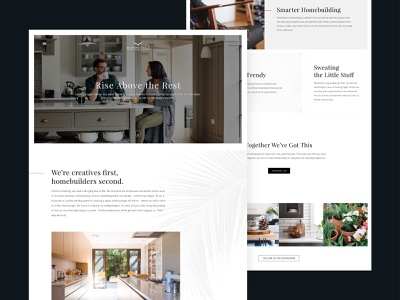 Soaring Eagle Homes clean modern portland agency blue blazes typogaphy website web design ux ui design web