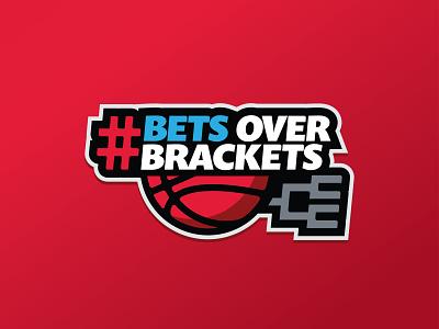Bets Over Brackets illustration casino handicapping branding sports design sports logo betting basketball madness march gambling sports