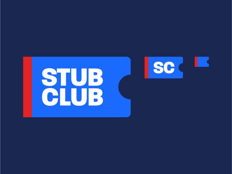 Stub Club™ responsive responsive logo identity art direction branding vector design minimal flat illustration sports branding logo sports