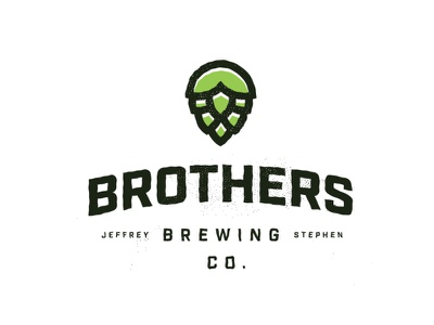 Brothers Brewing Co. yellow minimal logo homebrew hops brothers beer brewing