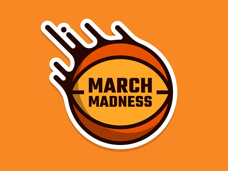 March Madness Basketball vector vinyl sticker hoops ncaa sports basketball madness march