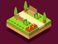 Isometric Park Segment