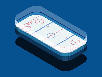 Isometric Hockey Rink isometric isometric illustration simple flat purple vector sports hockey nhl goal face off sports design