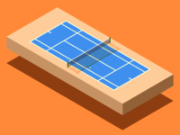 Isometric Tennis Court